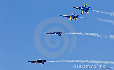 US Navy Demonstration Squadron Blue angels Editorial Photo