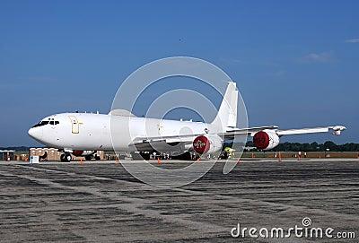 US Navy E-6 Mercury airborne command post Editorial Stock Image