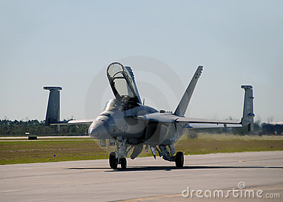 US Navy F/A-18 jetfighter landing Editorial Stock Photo
