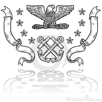 US Navy Insignia with Ribbons