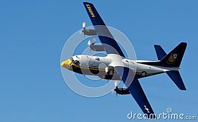 US Navy Lockheed-Martin C-130T Hercules Editorial Stock Photo