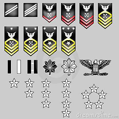 US Navy Rank Insignia - fabric texture