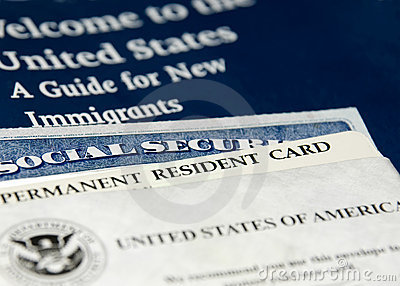 US new resident documents