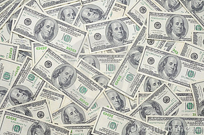 US one hundred dollar bills