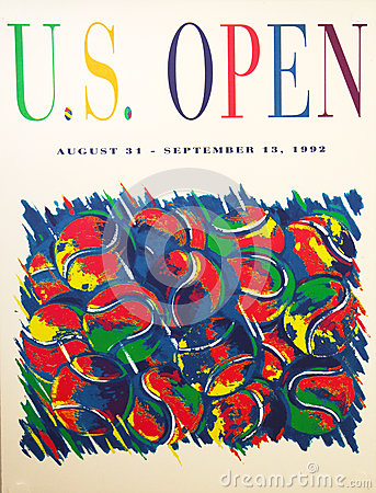 US Open 1992 poster on display at the Billie Jean King National Tennis Center