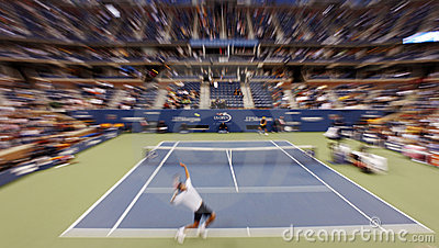US Open tennis match Editorial Stock Photo