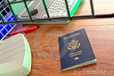 US Passport at Foreign Immigration Customs Counter