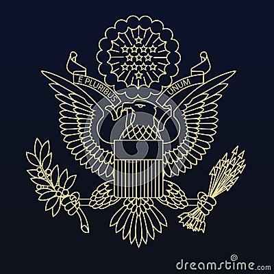 Us Passport Seal Stock Illustration Image 48432813