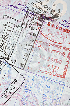US Passport Visa Stamps