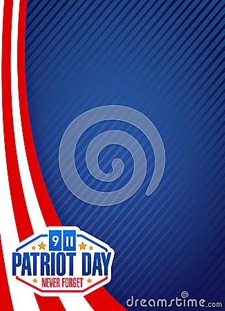 Free Us Patriot Day Sign Background Illustration Stock Image - 58816771