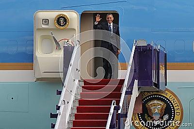 Us-president Barack Obama Redaktionell Fotografering för Bildbyråer