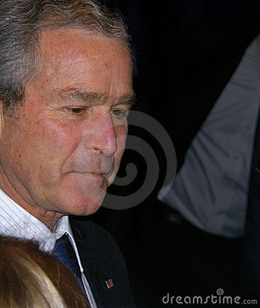 US President George W Bush Editorial Photo