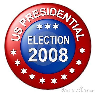 Us presidential election button