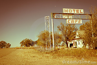 US Route 66 motel and cafe