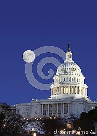 US senate and full moon