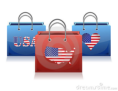 US theme shopping bags