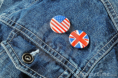 US and UK Buttons on a Denim Jacket