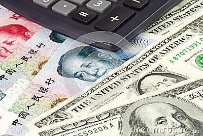 US und chinesisches Bargeld