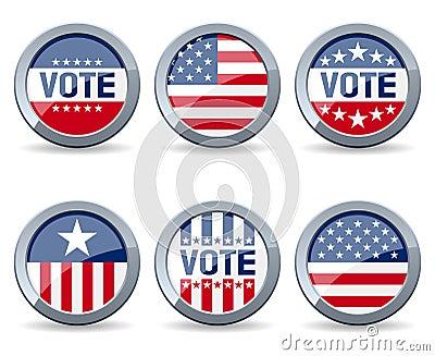 US-Wahl-Kampagnen-Tasten