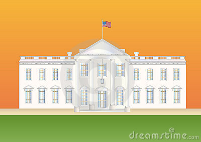 Us white house at sundown