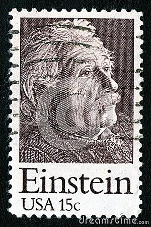 USA 15c Einstein Postage Stamp
