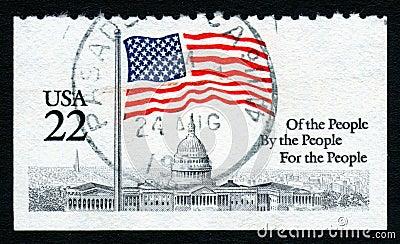 USA 22c White House stamp