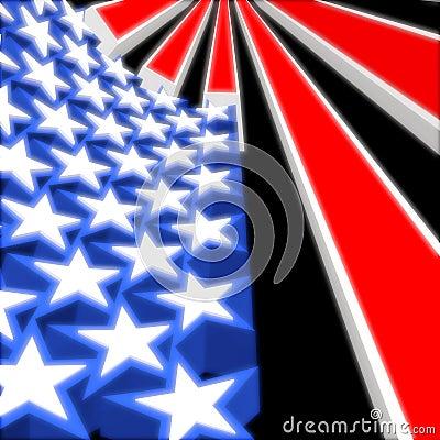 USA 3D Flag