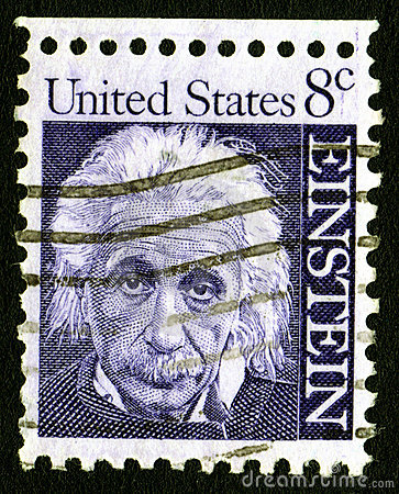 USA 8c Einstein Stamp