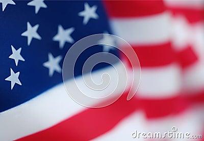 USA American Flag Closeup
