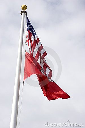 Free USA And ACE Flags Royalty Free Stock Photo - 49415