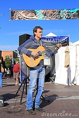USA, Arizona: John Calvert, Guitar Player Editorial Stock Photo