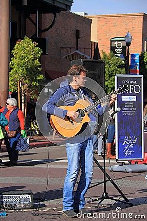 USA, Arizona: John Calvert, Guitar Player Editorial Photo