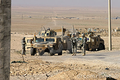 Usa Army Soldiers in Iraq Editorial Stock Image