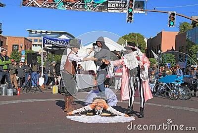 USA, AZ: Street Artists 6 - Endurance Test Editorial Image