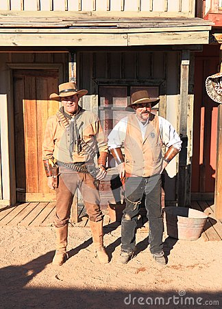 Free USA, AZ/Tombstone: Old West - Gunfight Actors Stock Photography - 37507482