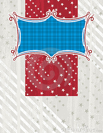 Usa background with one decorative label, vector