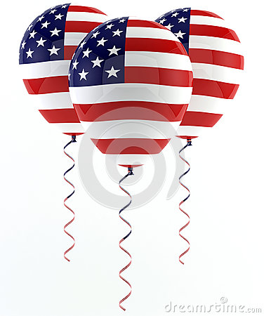 USA balloons - Flag