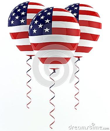 USA balloons - Flag