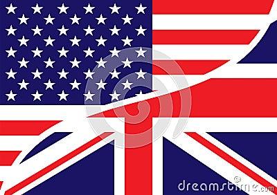 Usa british flag
