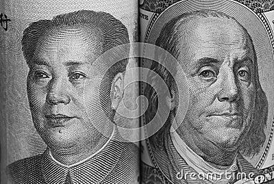 USA and China Currencies