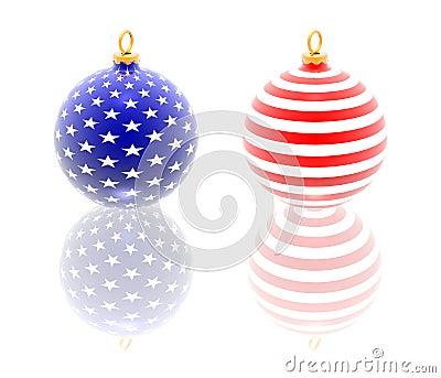 USA christmas balls