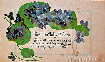 USA - CIRCA 1900 Vintage Birthday Card