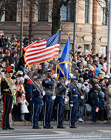 USA Color Guard at parade Editorial Image