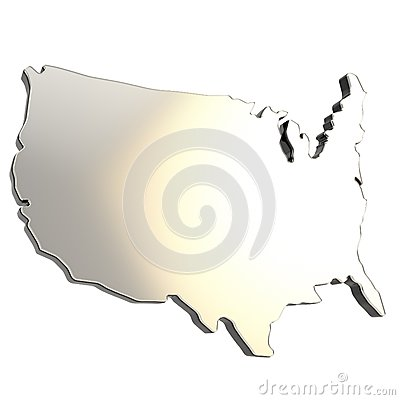USA country shaped copyspace dimensional plate