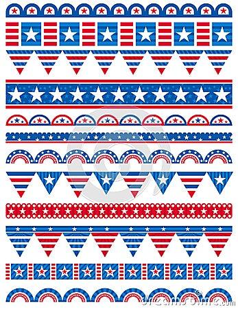 USA decorative borders, ornamental rules, dividers