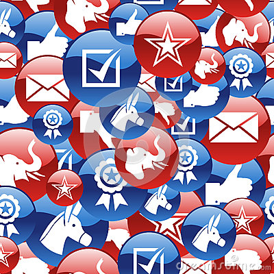 USA elections glossy icons pattern Editorial Stock Photo