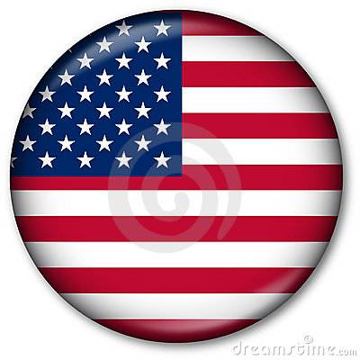 Free USA Flag Button Royalty Free Stock Photo - 7314905