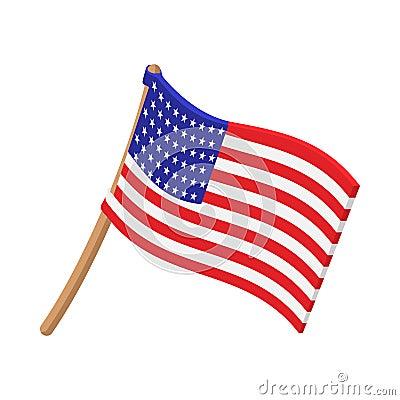 USA flag cartoon icon Vector Illustration