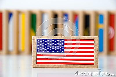 Flag domino