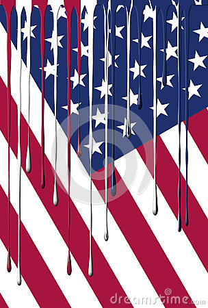 USA Flag Dripping Colors